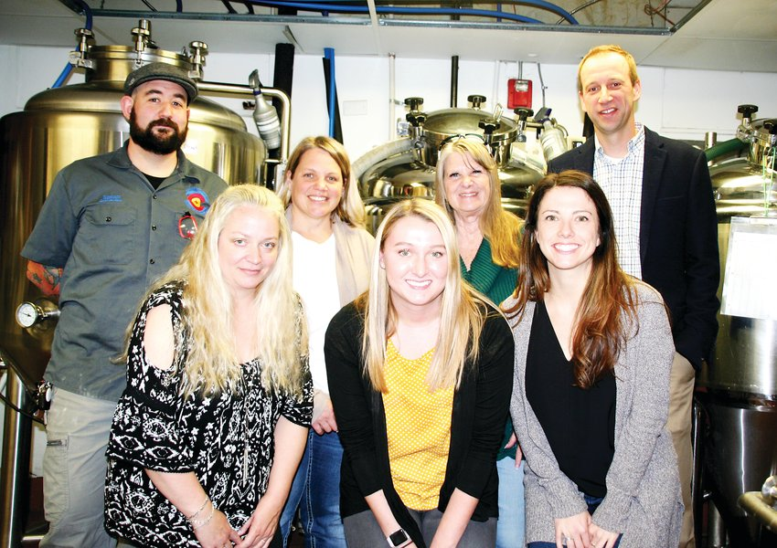 James Coulter, head brewer at Colorado Plus Brew Pub and Taphouse, on the far left, gathers with Outdoor Lab Foundation board members and staff on Nov. 18, which was brew day for the custom beer of which sales will benefit the Outdoor Lab Foundation on Colorado Gives Day.