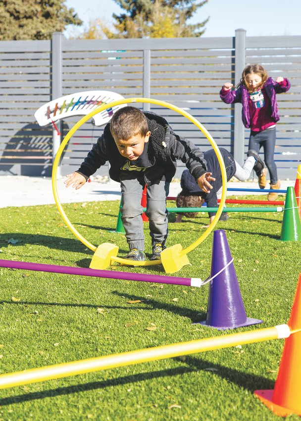 The Young Athletes program involves obstacle courses, dancing, playing chase, running laps, playing with balls and more. It teaches gross motor skills and how to get along with others, no matter who they are.