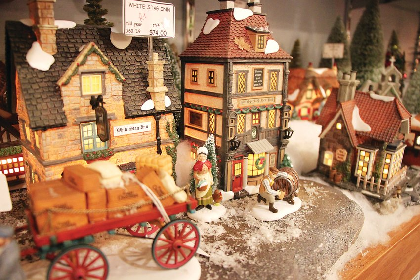 One of the Christmas villages at St. Nicks.
