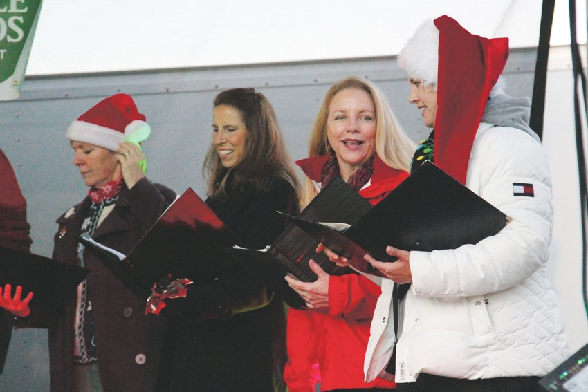 Carolers helped provide holiday spirit at the Starlighting in Castle Rock.