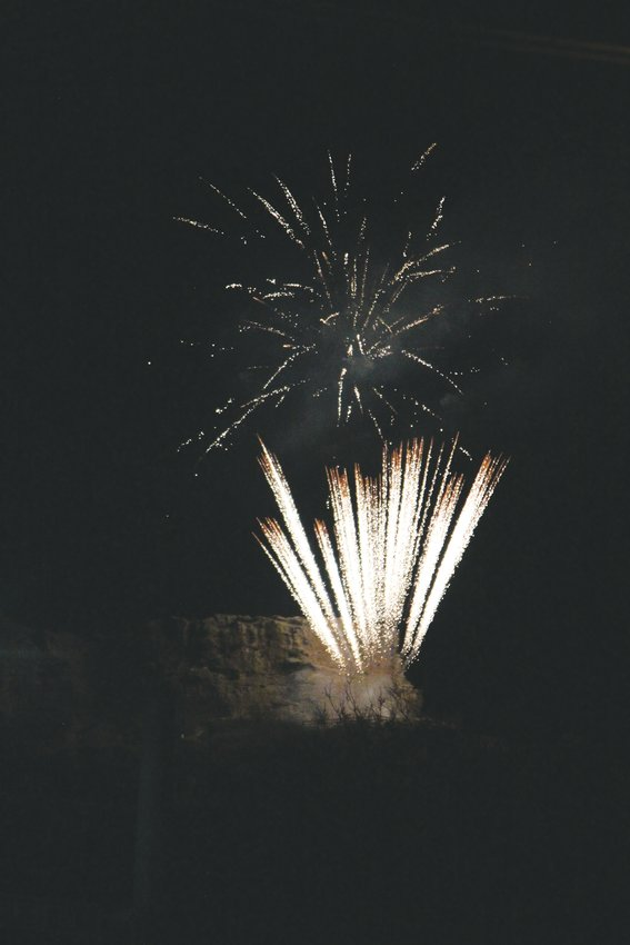 Fireworks from atop The Rock concluded the annual Starlighting ceremony in Castle Rock on Nov. 23.