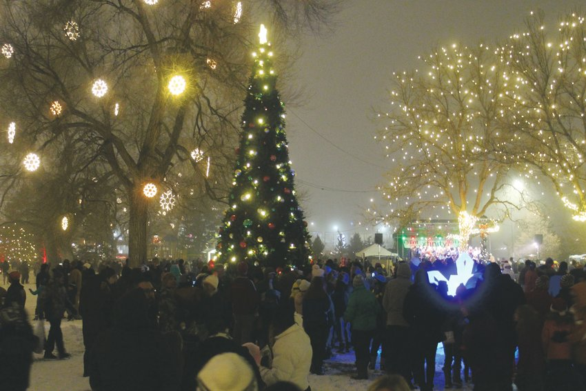 O'Brien Park was lit up for the holiday season at the annual Mayor's Holiday Lighting in downtown Parker Nov. 28.