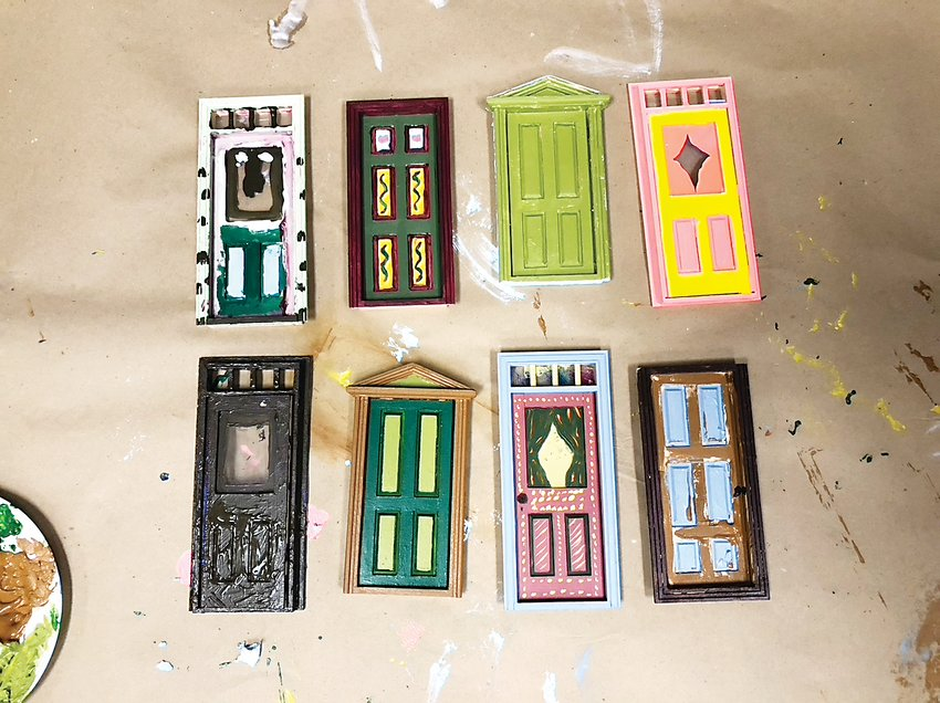 A small collection of the more than 70 fairy doors made by District 7 residents in November. The doors are part of an Imagine 2020 art project.