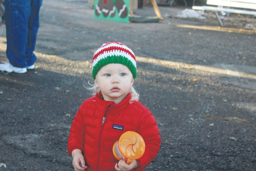 Cormac Jacobs wanders around Belleview Park. Residents could ride the train, roast s'mores, do arts and crafts and have their children visit Santa at Englewood's Holiday Express.