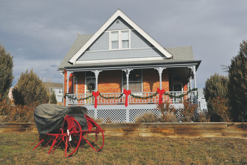 The historic Stonehocker farm homestead, built in 1903, is decked out for Northglenn's Old Fashioned Christmas on Dec. 7.