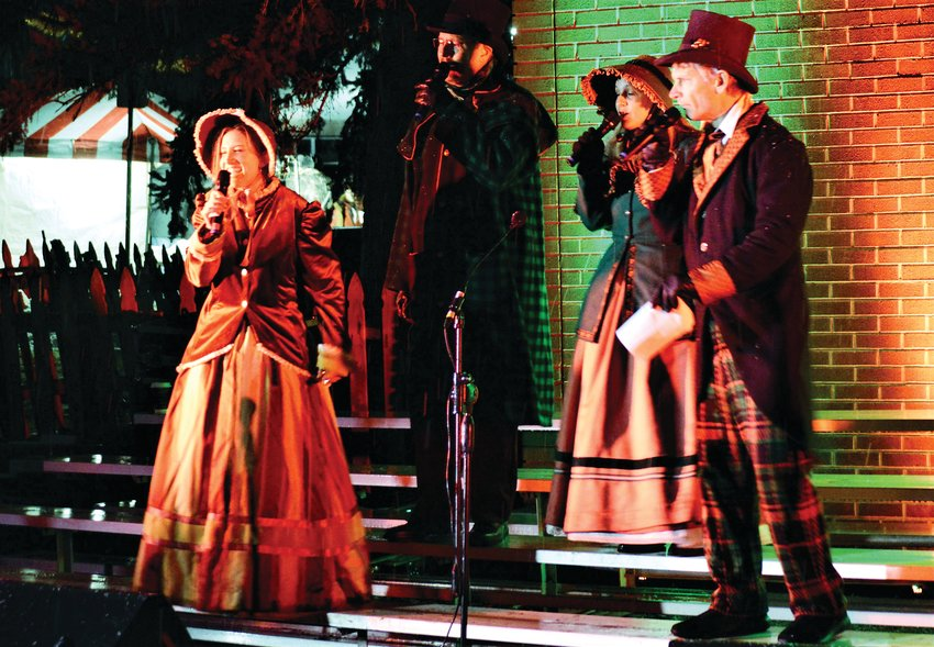 Christmas singers perform at the Westminster Historical Society's Hometown Christmas celebration Dec. 5 in old Westminster. From left to right, Lara Chamberlain, Mark Ewing and Alyssa Wooten.