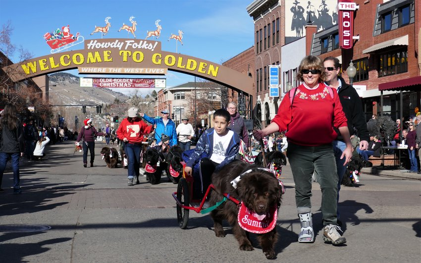 The Dec. 7 Olde Golden Christmas Parade.