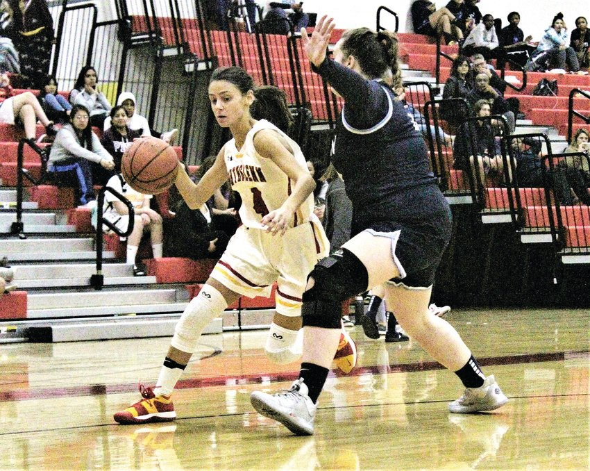 Northglenn sophomore Penelope Perea gathers possession Dec. 11 against Vista Peak.