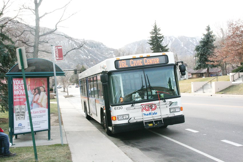 The 16L bus, pictured waiting here at the 10th Street and Washington Avenue stop in downtown Golden, is one of six RTD bus routes that would be eliminated by a new proposal from RTD staff aimed at addressing the impacts of RTD's chronic driver shortage.