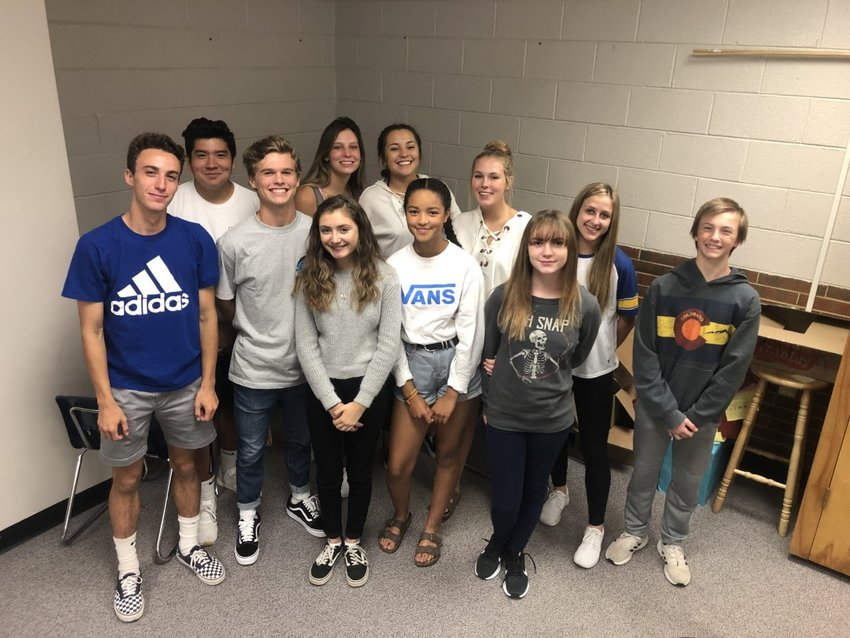 Wheat Ridge High students in the school's UpRISE group, which has spent the school year identifying causes of and solutions for youth tobacco use.