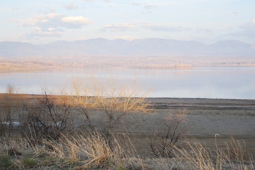 A view of Standley Lake, just after sunrise April 3, near the Arvada shoreline.