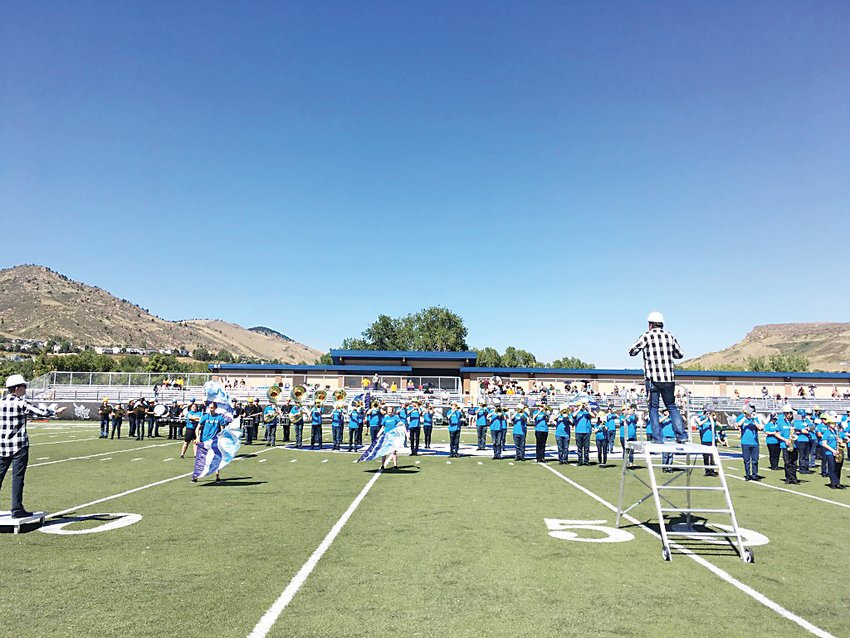 The History Arts and Social Sciences Colorado School Of Mines Marching Band rehearses on campus earlier this year.