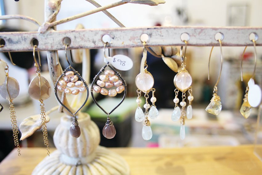 Earrings at Sarah DeAngelo Jewelry. DeAngelo's jewelry is meant for everyday tasks, like going to a grocery store. Her products include earrings, necklaces and bracelets.