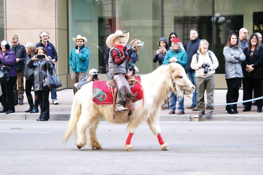 Even the smallest ponies with the youngest riders participated in the Stock Show Kick-off Parade in downtown Denver on Jan. 9.