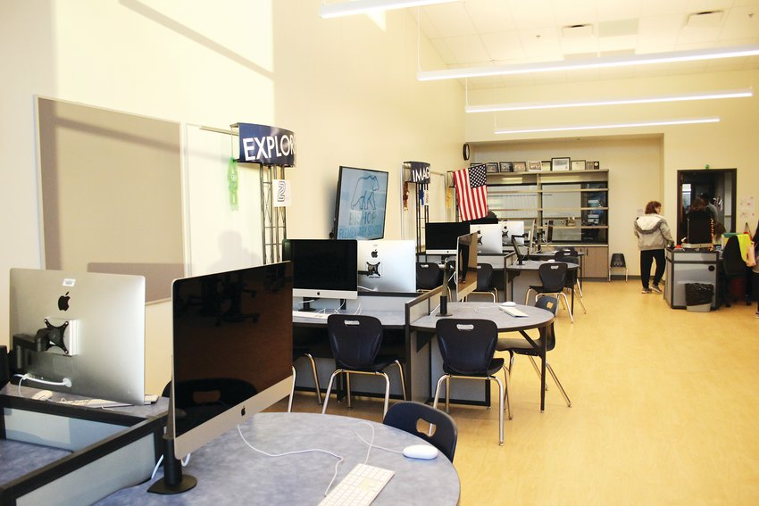 The science, technology, engineering and mathematics lab. The school was funded through a $97.5 million bond passed by Englewood voters in 2016.