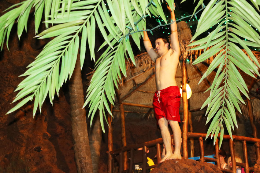 Max Spiegel prepares for a dive during 2016 performance Lakewood's Casa Bonita. There is some kind of performance at the restaurant about every 15 minutes.
