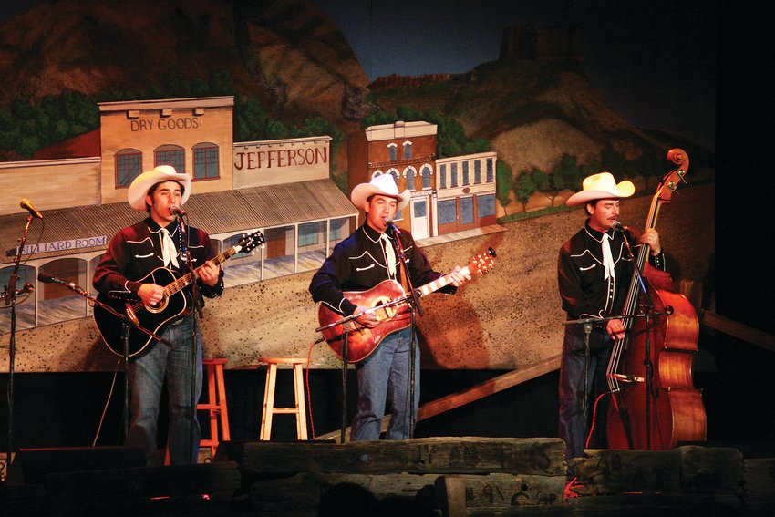 The High Country Cowboys perform at the Colorado Cowboy Poetry Gathering's Thursday Night Sampler event in Golden.