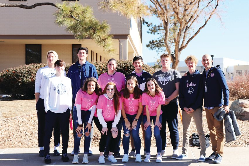 Before facing off in a basketball game, student athletes from Dakota Ridge High School and Columbine High School worked together to visit patients at the infusion center at Wheat Ridge's Lutheran Medical Center, 8300 W. 38th Ave.