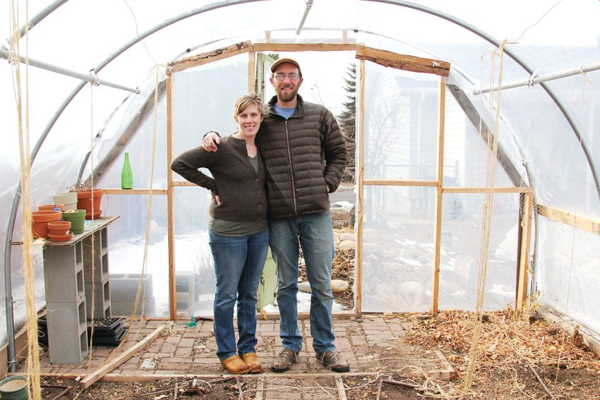 Rue Graham and Chris Frederics run their urban farm in downtown Castle Rock, offering a CSA program for local residents.