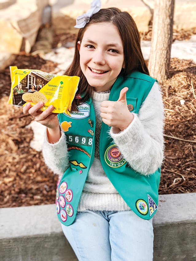 Bianca Morris, 10, is excited for people to try the new Lemon-Ups Girl Scout cookie, especially after receiving her shipment of them on Jan. 23. Girl Scout cookies are on sale from Feb. 2 to March 8 this year.