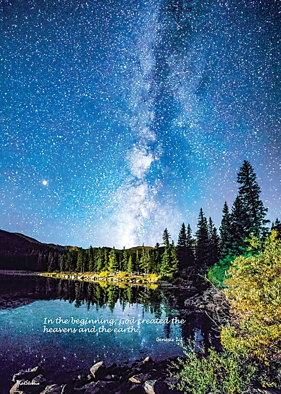 """In the Beginning"" photo of the Milky Way is exhibited at St. Andrew United Methodist Church in Highlands Ranch Feb. 9-March 11."