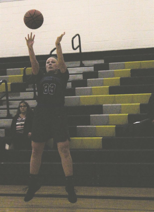 Thornton junior Maddie Lester shoots the 3-pointer Jan. 27 against Prairie View.