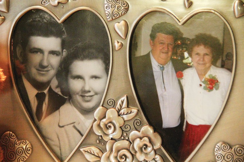 Photos taken decades apart show Tom Munds and his wife, Alva, who died in 2011. Tom Munds died Feb. 6 at 82.