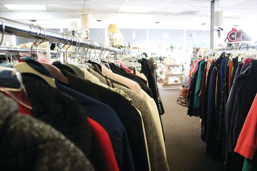 Women's coats at Treasure Trunk Community Thrift Store in Wheat Ridge. The store supports the human-services organization Family Tree. The organization works with the homeless, people who have experienced domestic violence and those who have suffered from child abuse.