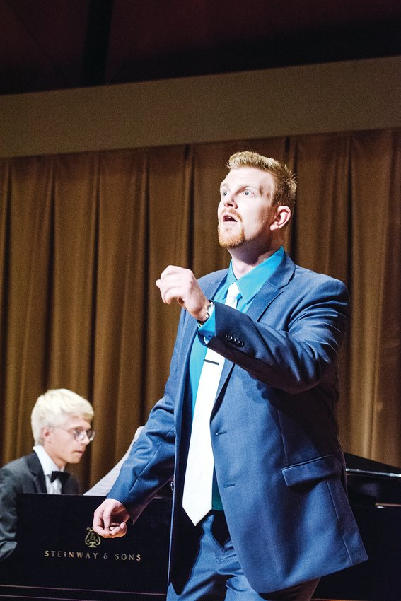 Operatic singer Michael Hoffman won the Denver Lyric Opera Guild competition in 2018 and is pictured in performance.