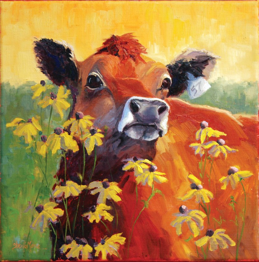 """Summer With Ophelia"" by Sheila Marie is included in the Depot Art Gallery's new exhibit of animal images."