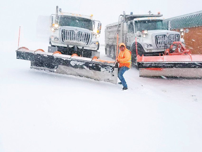 Elbert County Road and Bridge crews have spent long hours this year plowing and grading roads after snow storms.