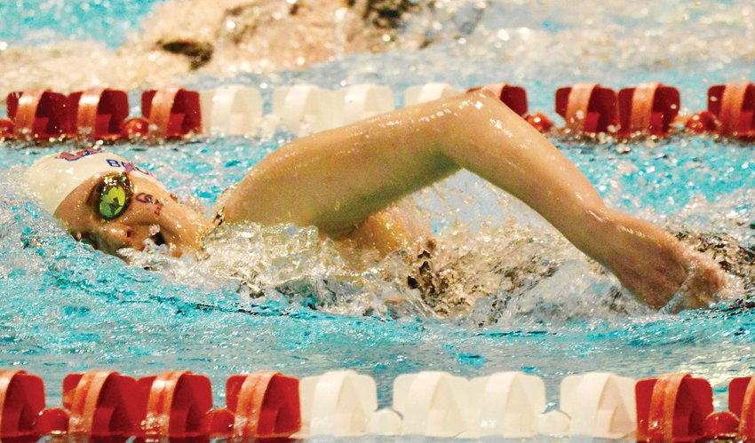 Elizabeth Brock of Cherry Creek was fourth in the 500-yard freestyle with a time of 5:06.28 at the 5A girls state swimming championships held Feb. 13-14 at the VMAC.