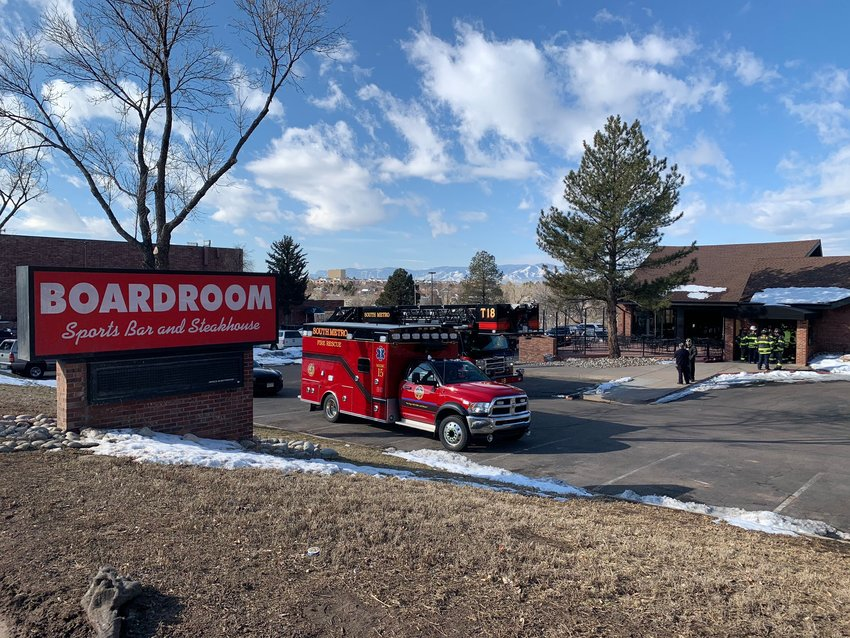 A van crashed into the Boardroom, located on Broadway in Littleton, the morning of Feb. 17.