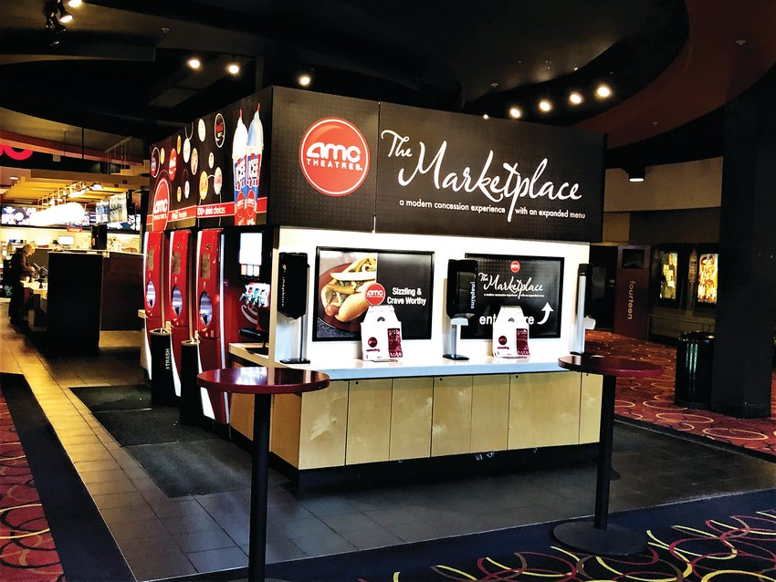 The Marketplace concession stand at AMC Highlands Ranch 24.
