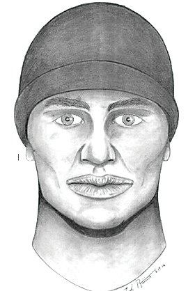 A police sketch of one of two suspects in Villarreal's murder.