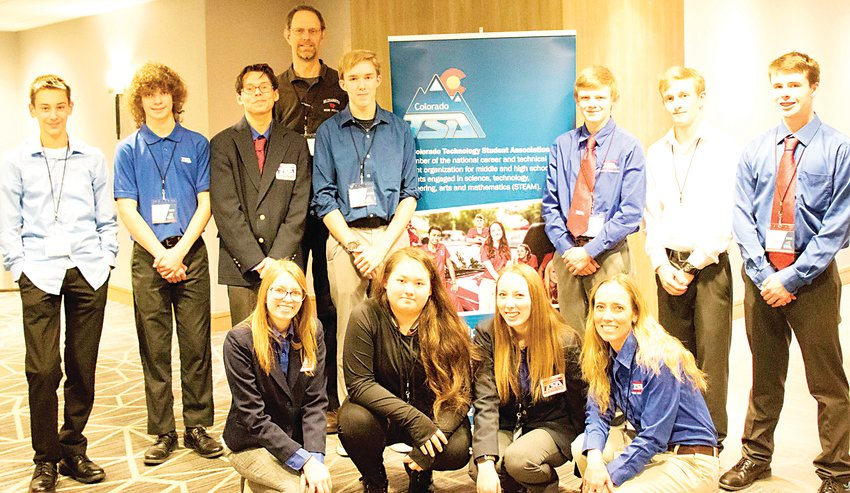 Members of Elizabeth High School's Technology Student Association competed against more than 1,800 students from across the state at the annual COTSA conference Feb. 20-22.