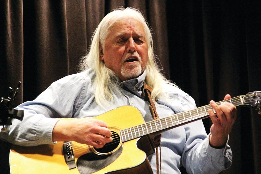 "Parker resident Doug Kolz, 70, plays a bluesy number at the ""Live: Singer and Songwriter Showcase."""
