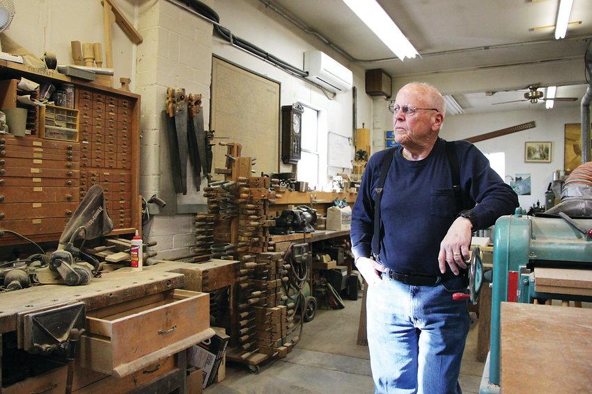 Rick Morel stands in his pipe organ workshop in north Denver. Morel said after two or three more jobs, it's time to retire, meaning the likely end of his century-old business.