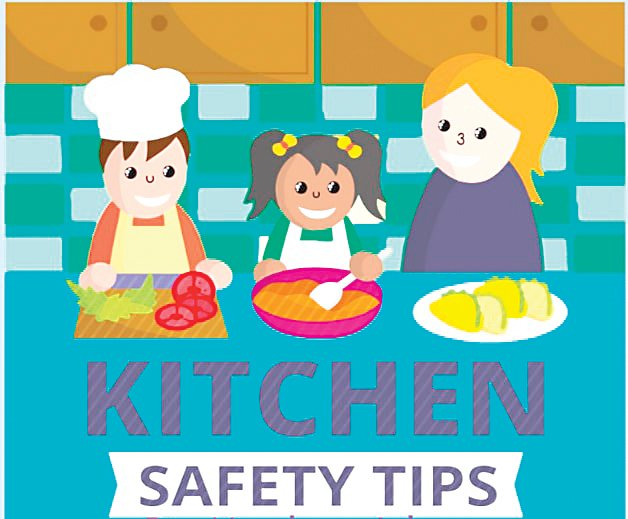 The cover of a student's digital book, made through online tool Book Creator. The project was an assignment to assess student's knowledge on kitchen safety in Kristina Herrin's family and consumer science class at Drake Middle.