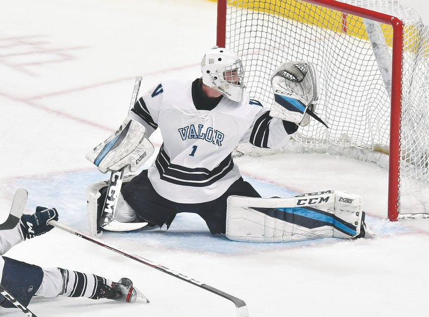 Valor Christian goaltender Trey Hirschfield is the Colorado Community Media South Metro Hockey Player of the Year.