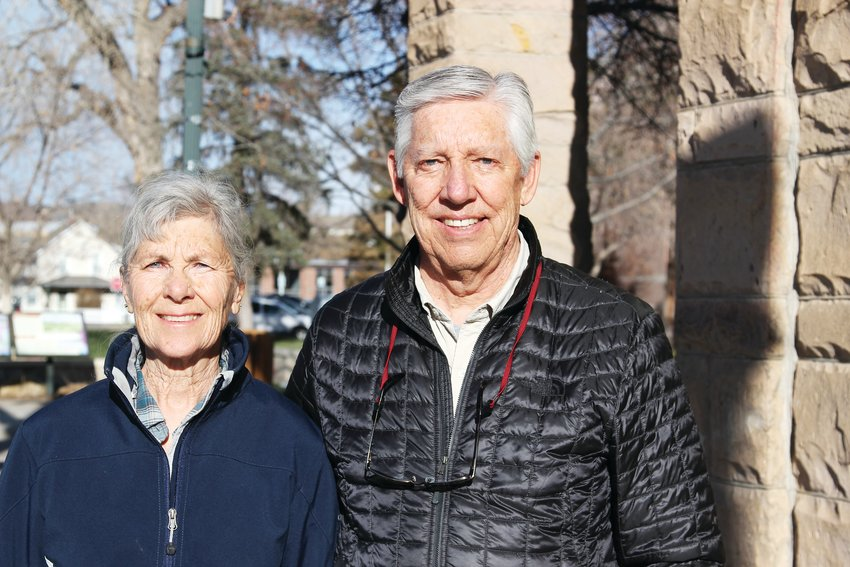 Bob and Linda Karcz took a stroll through downtown Castle Rock on March 25 as news broke that the Tri-County Health Department would issue a stay-at-home order effective 8 a.m. on March 26.
