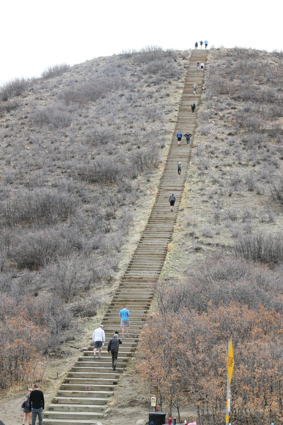 People streamed up and down Challenge Hill at Philip S. Miller Park on March 30.