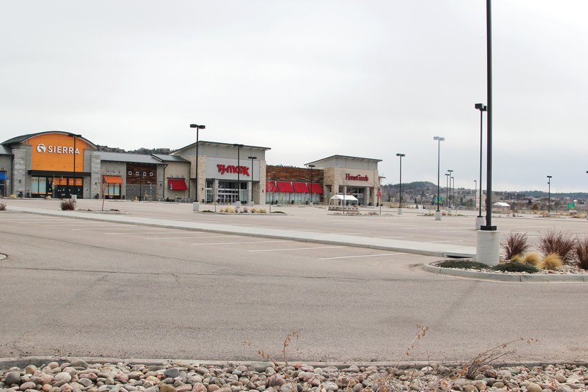 Typically a busy center, shops at the Promenade in Castle Rock sat closed, parking lots empty, on March 30.