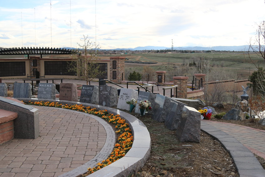 The Horan & McConaty cremation garden in Highlands Ranch was empty one afternoon in early April as the stay-at-home order continued throughout the state.