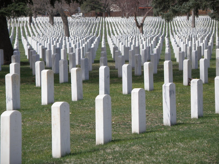 The Fort Logan National Cemetery in Denver is continuing to accommodate burials of veterans and is cataloging families who wish to have a memorial with honors later. Many of the volunteers who normally provide the honors, such as a firing party, are not able to attend services right now.