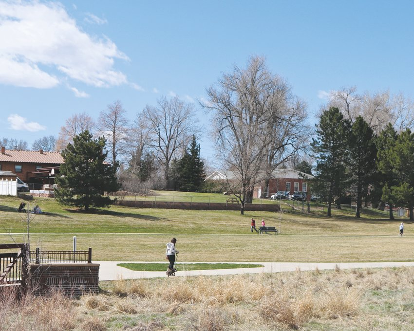 The Ralston Creek Trail and others in Arvada were packed through the majority of March as stay-at-home orders have limited other recreation options.