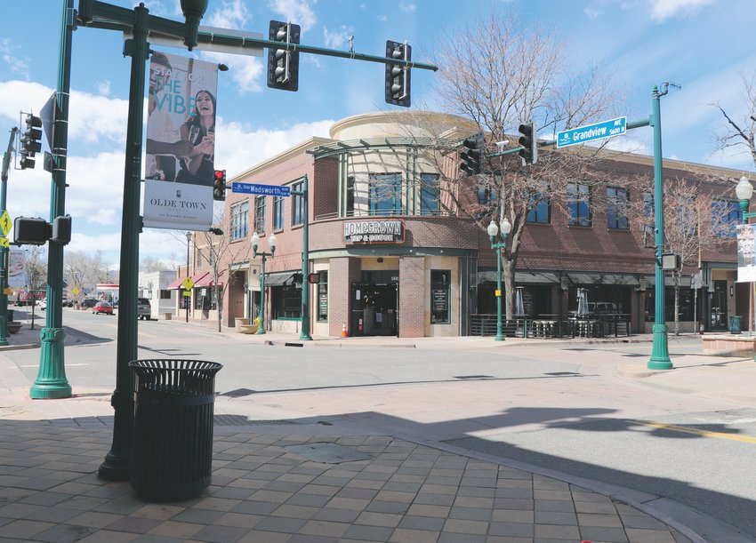 By March 31, most of the businesses at the intersection of Olde Wadsworth and Grandview were empty, bringing little traffic to the area.