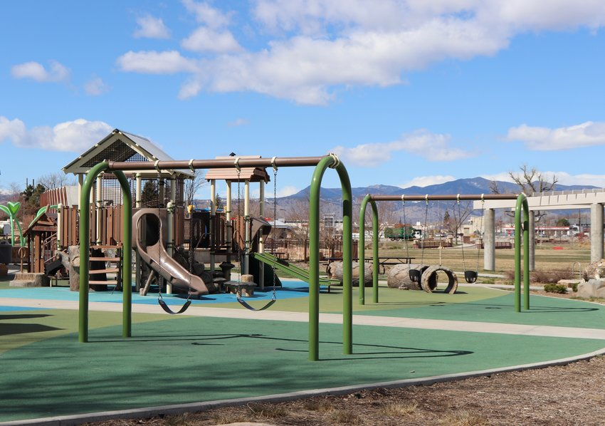 Despite temperatures in the sixties on March 31, the playground at Ralston-Central Park was empty because of restrictions against using playgrounds during the COVID-19 pandemic.
