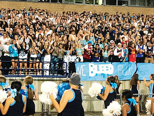 The students at Ralston Valley High in Arvada together at a football game earlier in the 2019-2020 school year.