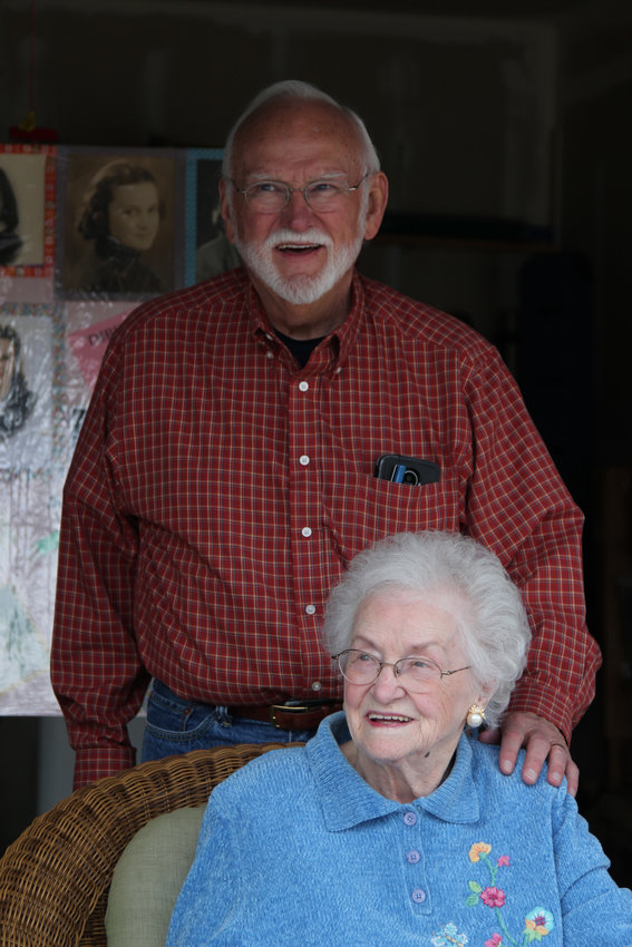 Evelyn Berkey cared for her toddler son, Bill, alone for roughly two years when her husband served overseas in WWII. She now lives with Bill in Castle Rock.